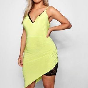BNWT Maya Strappy Lace Detail Drape Midi Dress